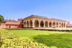 Agra fort z niebieskim niebem, India Zdjęcia Stock