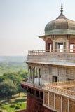 Agra forttorn - Agra, Indien Arkivbilder