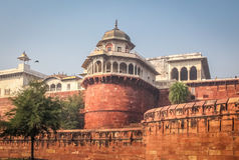 Agra-Fortturm - Agra, Indien Lizenzfreies Stockbild