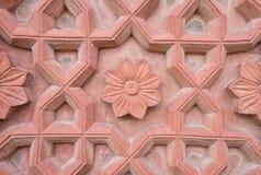 Agra fortu ściany tekstura Fotografia Royalty Free