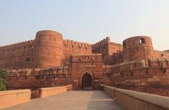 Agra fortu dziejowa architektura Agra India Zdjęcia Royalty Free