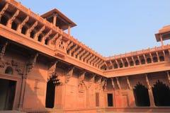 Agra fortu dziejowa architektura Agra India Zdjęcie Stock