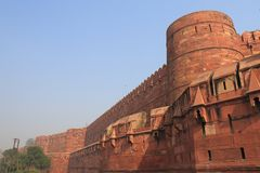 Agra fortu dziejowa architektura Agra India Fotografia Royalty Free