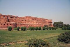 Agra fortu fosa i ściana Fotografia Stock