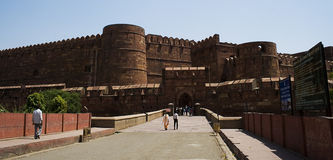 agra fortu mughal czerwień s Zdjęcia Royalty Free