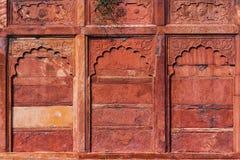 Agra fortu szczegół, Zewnętrzna ściana Obraz Stock