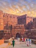 Agra fortu utrzymania brama Fotografia Royalty Free