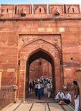 Agra fortu utrzymania brama Zdjęcie Royalty Free