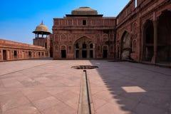 Agra fortu wnętrza, India Obraz Royalty Free