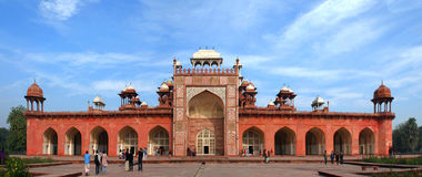 Agra. The Historical and Architectural complex of Sikandra the tomb of Mughul Emperor Akbar Royalty Free Stock Photos