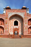 Agra. The Historical and Architectural complex of Sikandra the tomb of Mughul Emperor Akbar. Agra. The main Entrance of the central building of the Historical Royalty Free Stock Photography