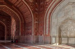 Detaile of the Taj Mahal Temple. AGRA, INDIA - AUGUST 15, 2017: Detaile of the Taj Mahal Temple, representative of Indian culture and spirituality Stock Images