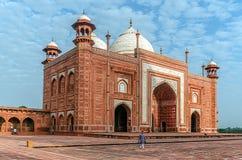 The Taj Mahal Temple, Agra, India. AGRA, INDIA - AUGUST 15, 2017: The Taj Mahal Temple, representative of Indian culture and spirituality Royalty Free Stock Photos