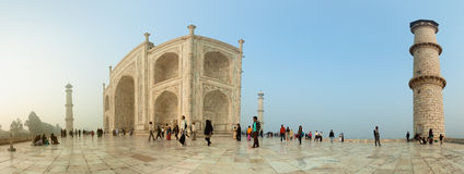 AGRA, INDIA - CIRCA NOV 2012: The territory of the Taj Mahal. Un Royalty Free Stock Image