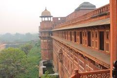 Agra, India, Czerwony fort, element budynek Obrazy Stock