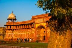 Agra, India Fortificazione di Agra immagini stock libere da diritti