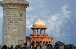 agra india lokaliserade mahal mausoleumtaj Royaltyfri Fotografi