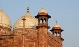 agra india lokaliserade mahal mausoleumtaj Fotografering för Bildbyråer
