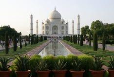 agra india mahal taj Royaltyfri Fotografi