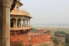 Agra, India, Rood Fort, een element van het gebouw Stock Foto