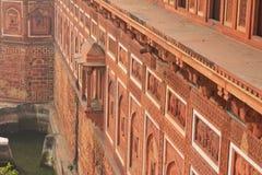 Agra, India, Rood Fort, een element van het gebouw Royalty-vrije Stock Afbeelding