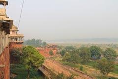 Agra, India, Rood Fort, een element van het gebouw Stock Fotografie