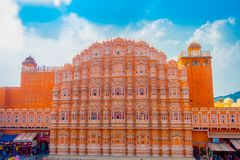 Agra, India - September 20, 2017: Hawa Mahal is a five-tier harem wing of the palace complex of the Maharaja of Jaipur Stock Photography