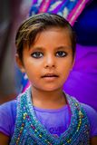 Agra, India - September 20, 2017: Portrait of a beautiful girl looking at camera in Agra city in India Royalty Free Stock Photos