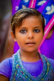 Agra, India - September 20, 2017: Portrait of a beautiful girl looking at camera in Agra city in India Stock Photography
