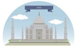 Agra Indien vektor illustrationer