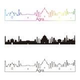 Agra linii horyzontu liniowy styl z tęczą Obraz Royalty Free