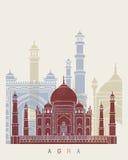 Agra linii horyzontu plakat Fotografia Stock