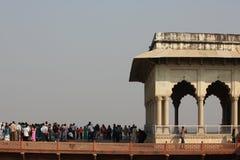 Agra ludzie i fort Obraz Stock