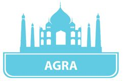 Agra outline. Illustration for you design Royalty Free Stock Photo