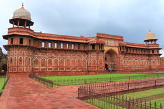 Agra rött fort, Uttar Pradesh, Indien Arkivfoto