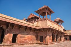 Red Fort of Agra. UNESCO World Heritage site. royalty free stock photography