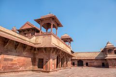 Red Fort of Agra. UNESCO World Heritage site. stock photography