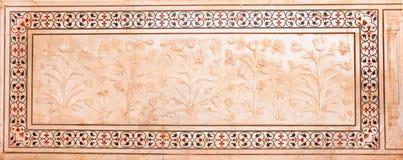 agra rzeźbił ind mahal marmurowego panelu taj Obrazy Stock