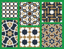 Agra Seamless Patterns Set Five Royalty Free Stock Photography