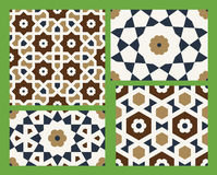 Agra Seamless Patterns Set One Royalty Free Stock Photo