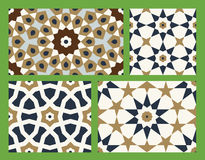 Agra Seamless Patterns Set Two Royalty Free Stock Image