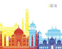 Agra skyline pop. In editable vector file Royalty Free Stock Photography
