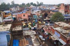 Agra-Stadt vom Dach Rajastan, Indien, 2011, Dezember, 31. Stockbilder