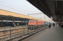 Agra train railway station India. People travel at Agra Cantt railway station in Agra India Royalty Free Stock Photos