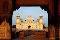 Agra, Uttar Itmad-Ud-Daulah grobowiec dziecka taj lub Biżuteryjny pudełko () Obrazy Royalty Free