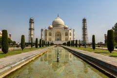 Agra Uttar Pradesh, Indien - Maj 2016: Återställandearbete i Arkivfoton