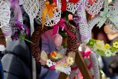 Agradável - decorações da Páscoa Fotografia de Stock