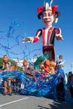 AGRADÁVEL, FRANÇA - 22 DE FEVEREIRO: Carnaval de agradável em Riviera francês O tema para 2015 era rei da música Agradável, Franç Imagem de Stock