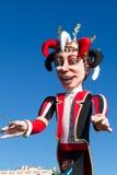 AGRADÁVEL, FRANÇA - 22 DE FEVEREIRO: Carnaval de agradável em Riviera francês O tema para 2015 era rei da música Agradável, Franç Fotografia de Stock Royalty Free