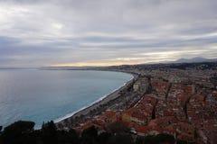 Agradável, França e o Mediteranian Fotos de Stock Royalty Free